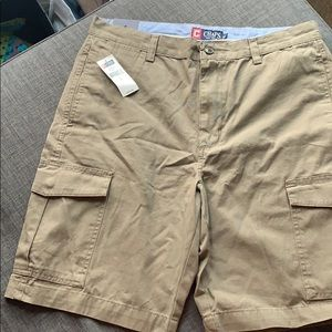 New Chaps Monterey Bark Khaki shorts 34
